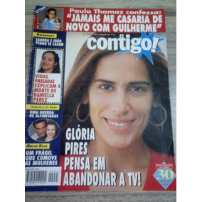 Contigo 825 Glória Pires Daniella Perez Silvio Santos Bete L