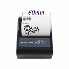 Mini Impressora Bluetooth Portatil 80mm Cupom Qr Code Usb Pc