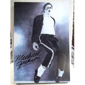 Michael Jackson Dançando Lindo Quadro Artesanal Madeira