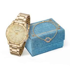 567b5a6a4f7 Relogios Masculino Mondaine Pulseira De Osso Com Dourado - Relógio ...