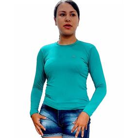 5a1855449f Camisa Malha Verde Oliva Manga Longa - Calçados