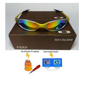 Oculos Oakley Juliet 24k Arco-iris +chaves+teste 12x S juros 6ae10386cc