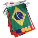 3x Banderas Guirnalda País Futbol Decoración