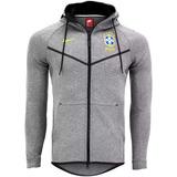 Jaqueta Moletom Seleção Brasileira Nike Cinza Clara Treino 5caa1019d6e8e