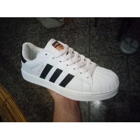 promo code 89ca9 e3896 Zapatos adidas Super Star Dama Blanco Con Negro Y Tornasol