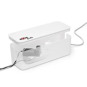 Caja Organizadora Zapatilla Electrica Boxtul Cable Blanco