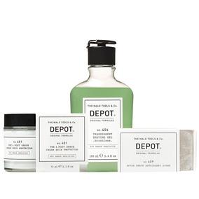 Protect Depot 401 + Gel Afeitado 406 + Piedra Astringente