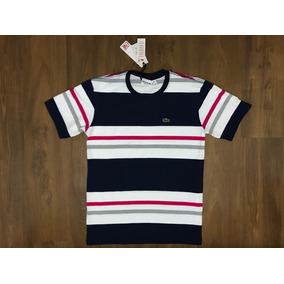 Camiseta Lacoste Live Malha Peruana Strip Original Tam G 5eab72ac111
