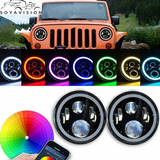Faros Led Jeep Wrangler Bluetooth Jk Tj Cj Hummer
