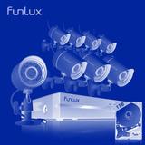 Kit 8 Camaras Seguridad Hd 720p Funlux 1tb Hdd - Inteldeals