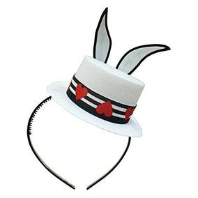 0438d9cf979b6 Blanca Oídos Del Conejito Del Sombrero Superior De La Fiesta