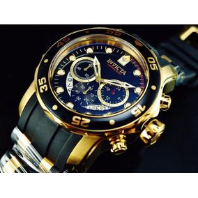 Invicta Hombre 6981 Pro Diver Reloj Cronógrafo 18k Oro 48mm