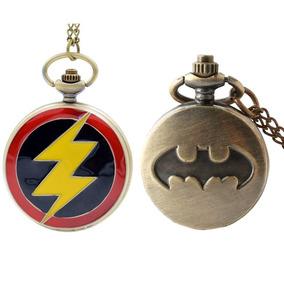 Reloj De Bolsillo Superheroes Batman Flash Regalo Fiesta!