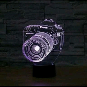 Luminaria Acrilico Led 3d, Câmera, Fotográfica Canon E Nikon