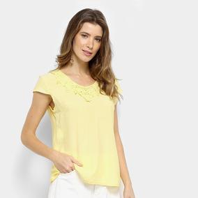 5ea0633ad2 Blusa Amarela De Renda - Blusas para Feminino no Mercado Livre Brasil