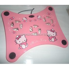 Base Fan Cooler 3 Ventilador Laptop Consola Usb Hello Kitty