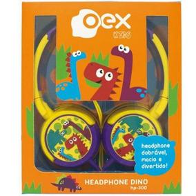 Headphone Dino Oex Kids Hp.300