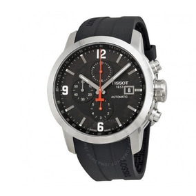 Relógio Tissot Prc200 Automático Cronógrafo Preto/borracha