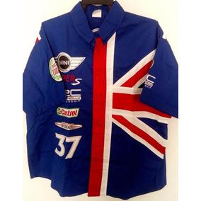 Camisa Minnie Cooper Rally F1 Nascar Castrol Racing Pits Azu 0dadc0ca19d9a