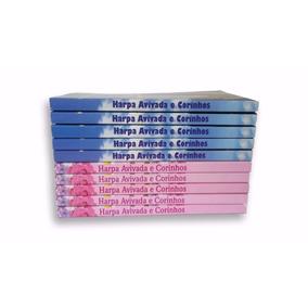 Kit Com 10 Harpas Cristã Peq Azul E Rosa Corinhos E Louvores