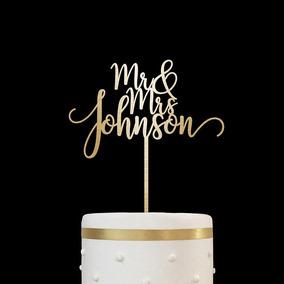 Cake Topper Pastel Personalizado Acrílico Boda Cumpleaños
