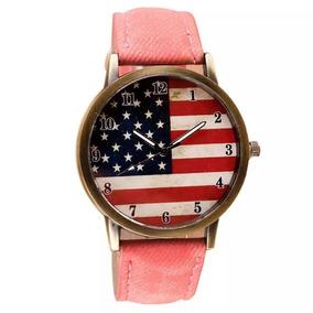 502024aec40 Relogio Bandeira Americana - Relógios De Pulso no Mercado Livre Brasil