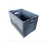 Caixa Plastica Dobrável Desmontável 60x40x40 Cinza Hortifrut