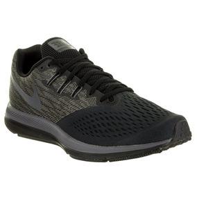 Tenis Nike Air Zoom Winflo 4 Negro Correr Deportivo Supinado