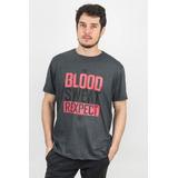 d369b3bf32 Camisa T-rex Futebol Americano Blood Rexpect Mescla Escura