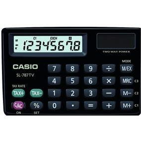 Calculadora De Bolsillo Casio Original Modelo Sl-787tv-bk-w
