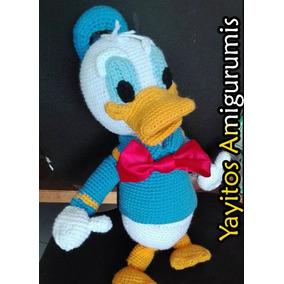 Pato Donald Disney C  Envío Amigurumi Tejido Peluche Crochet 215871ddad9