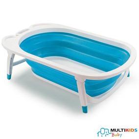 Banheira Dobrável Multikids Baby Azul Flexi Bath