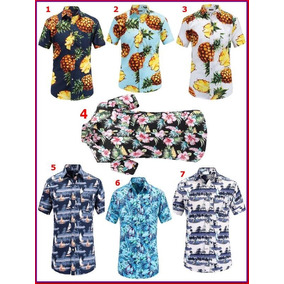 Camisa Havaiana Masculina Xgg - Camisa Casual Manga Curta Masculino ... 6bd979eba493f