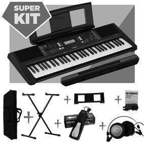 Teclado Musical Yamaha Psr E363 + Suporte + Pedal + Fone Akg