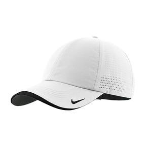 Gorra Nike Auténtica Bordada De Béisbol Perforada - Blanco ac380815ec7