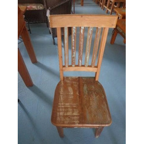 Cadeira De Madeira De Demolição / Moveis Rustico