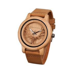 Reloj Hombre Madera Prenovatio Original Reno Maquina Casio M