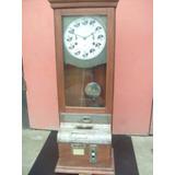Reloj Control Antiguo Con Pendulo. Ibm Made In U.s.a.