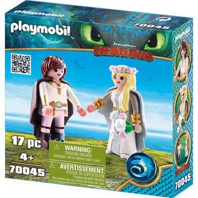 Playmobil Como Treinar Seu Dragão 3 - Noivos Soluço Astrid