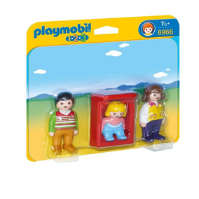 Playmobil 6966 1.2.3 Padres Con Bebé