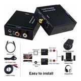 Convertidor De Audio Digital Coaxial O Fibra Optica A Rca