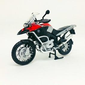 Miniatura De Moto Bmw R1200gs Vermelha 1:12 Maisto