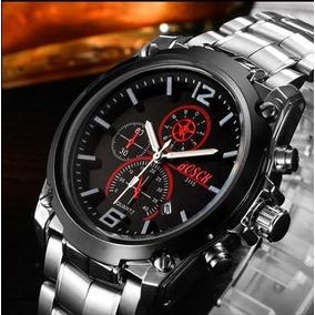 7151f15a88e Relógio Masculino Bosck Luxo Mov.quartzo Japonês Inox Casual