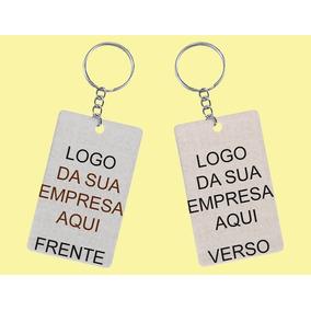 Chaveiro Com A Logo Da Sua Empresa - 100 Unidades