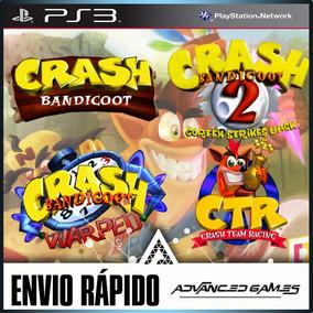 Crash Bandicoot 1 2 3 + Team Racing Jogos Ps3 Midia Digital