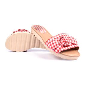 Sandália Rasteira Verão Combina Com Roupa De Banho