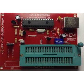 Gravador Usb Pic 12,16,18f Com Conector 40 Zif
