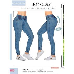 Pantalon/jogger Dama Push Up Cklass 146-78 Azul Pv-2019