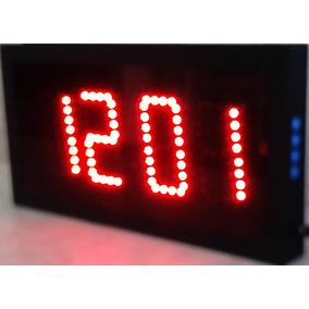 Reloj Digital De Pared De Leds Cronómetro, Turnador, Fecha