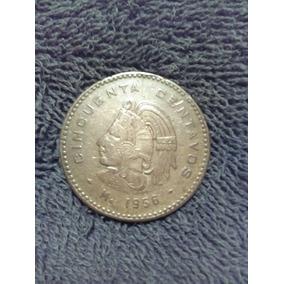 Moneda Mexicana Antigua 50 Centavos 1956.envio Gratis.